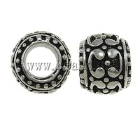 Free Shipping Zinc Alloy European Beads, Drum, with enamel, 11x8mm, Hole:Approx 5.5mm