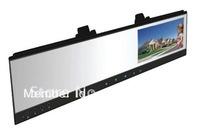 Car DVR + 4.3''TFT handsfree car kit rearview mirror backup camera system