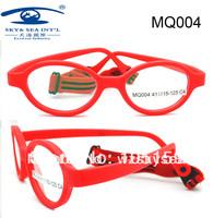 Free Shipping  One Case Free  Brand Design Eyewear Flexible Safety  Fiber  Kids Glasses