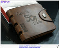 2013 new men women GENUINE LEATHER vintage short foldable hasp Wallets coins purses card holder brand wallet LF06364 06428