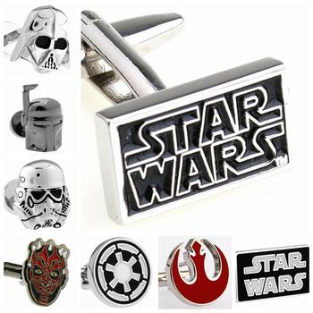 High Quality Cufflinks for Mens Fashion Jewelry Accessories Cartoons Movies Star Wars Designer Cuff links