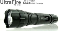 Free DHL FEDEX  Ultrafire WF- 501B Flashlight 5 Mode 1000 Lumens CREE XM-L T6 LED Flashlight Waterproof High Power Torch