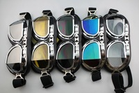5pcs/lot motorcycle glasses goggle Aviator Pilot Cruiser Motorcycle Scooter ATV Goggle Eyewear T08A Free Shipping