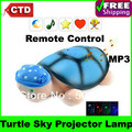 Free Shipping  MP3 Intelligent Remote Control the Turtle Sky Projector Lamps, Tortoise Projector Lamps, Night Light