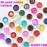 36 Pure Solid Colors UV Gel for UV Nail Art Tips Extension Decoration Nail Gel Color Nail Tools SKU:C0001