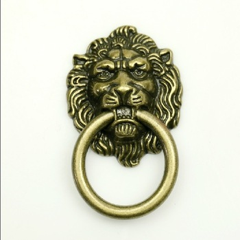10Pcs/Lot  Lion Head Kitchen Cabinet Knob and Drawer Pull(Sizes:50mm*42mm,Ring Diameter:36mm)