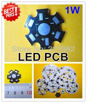 1W / 3W LED PCB/ Aluminum base plate/ Circuit board/ PCB LED board for led high power lamp, 100pcs/lot & free shipping