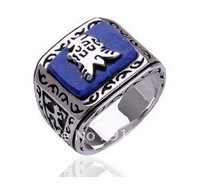 Free shipping Punk ring Vampire Diaries Silver Plated Resurrection ring Jeremy Ring Europe type ring