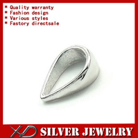 XD P331 925 sterling silver small pinch bail plated platinum secure pendant clasp for jewelry making