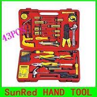SunRed BESTIR 43PCS Electric Tool Set telecommunication tools kit ,network/computer tool case set NO. 92105