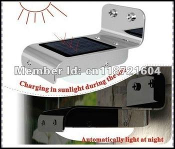 2pcs/lot Promotion,solar outdoor ray sound sensor light,16LED sound sensor wall light for garden/yard lighting
