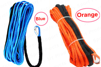 Free Shipping 9MM*30M 12 Strand Dyneema Synthetic 4X4/ATV Winch Rope With Thimble