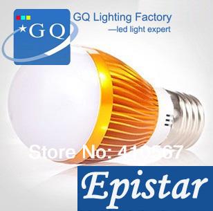 Dhl fedex 3w 5w 7w 9w 12w 15w e27 e14 led spot ampoule led, 330lm/w, golden/argent