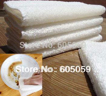 4 Pieces/ Bag New white color bamboo fiber dishcloth bamboo dish towel retail 18*23cm 22g/pcs uh154