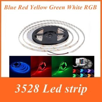 5M Waterproof LED Strip 3528 SMD 300 LED12V 20W Blue Red Yellow Green White RGB Flexible Strip + 24 Key Controller + Free Ship
