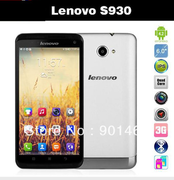 Original Lenovo S930 MTK6582 Quad Core Mobile Phone 6'' IPS 1GB RAM 8GB ROM 8MP Android 4.2 GPS Dual sim Russian Multi language