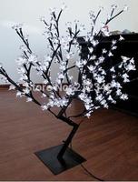 "Artificial LED Bonsai Cherry Blossom Tree Light Holiday Lighting Indoor Christmas Light 160 LEDs 0.8m/31.5"" White Free Shipping"