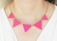 Minimum Order $20 (mixed order)  hot sale fashion jewelry Triangle Necklace