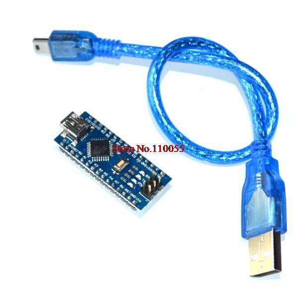 Freeshipping ! 1PCS Nano 3.0 controller compatible with arduino nano CH340 USB driver NO CABLE NANO V3.0(China (Mainland))