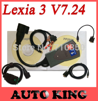 DHL SHIP+WHOLSALES! 2015 Newest Universal PP2000 lexia 3 forci-troen  peu-geot diagnostic tool  with 30pin cable Diagbox 7.24