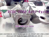 K03 53039880106 53039700106 06D145701G TURBINE TURBO Turbocharger For AUDI A4 2.0 TFSI (B7) 2005-08 Gasoline BWE BUL 2.0L 200HP