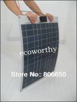 Hot*40W poly semi-flexible solar panel,40watt  flexible  panel for yacht boat RV,cell panel, free shipping
