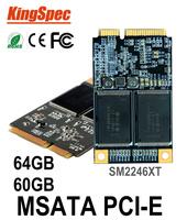 Kingspec Mini PCIE mSATA msata ssd sata3  SATA 64GB SSD 60GB Hard Drive Solid State Drive Disk > ssd 32 32gb msata dropshipping