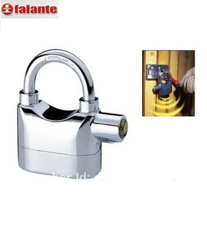 free shippment  2pcs  alarm lock for door and bicycle alarm padlock electroplate alarm lock