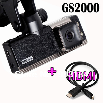 GS2000 Car DVR 1.5 inch LCD Screen 1920 x 1080P full HD Car DVR Video Recorder with HDMI G-sensor
