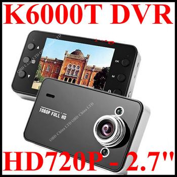 "K6000 Car DVR Camera,2.7"" TFT Screen Real HD1280*720P 30FPS 2013 Model, Low Price,  PK F900LHD Freeshipping!!"