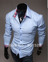 Kingtime Freeshipping New Arrival Three Color Turn-Down Collor Casual Shirt  For  Man Casual Wear  M-XXL KTE03  Asian size