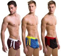 Men's boxer shorts home shorts casual male underpants for gym men's underwear 3 piece/lot 5 colors men briefs brand WJ7063