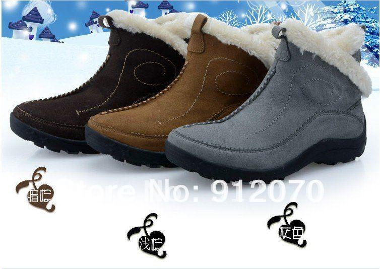 2014 neue mode frauen nubukleder winter marke stiefel großhandel drei farben warme schuhe b5005