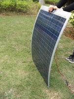 Eu stock, no tax, 80W Poly Semi-Flexible solar panels for car,boat,caravan,80 watt poly solar panel module ,free shipping *