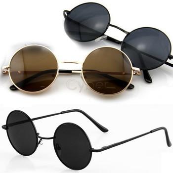 Free Shipping Retro Vintage Round Frame Lens Sunglasses Eyeglasses Tortoise 36