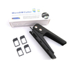 Free Shipping New Black Micro Sim Card Steel Metal Cutter + 4 Free Sim Adapters for iphone 4 4s ipad 3 Galaxy S3 Razr Maxx One X