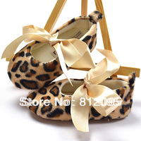RETAIL Bow leopard baby shoes toddler shoes trade shoes baby girl leopard prewalker shoes Little Spring  LZ-X0006