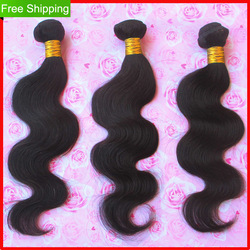 Clearance Hot Selling Queen Hair Retail 16&quot;-30&quot; Virgin Brazilian Hair Extension Wave Curly Lihgt Brow about 2-2.4 oz/pcs(China (Mainland))