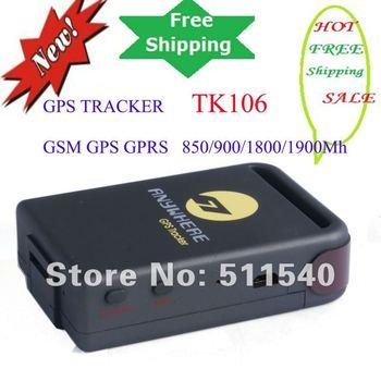 100% genuine original TK106 free online software gps sim card Tracker  Inbuilt Shock Sensor and Sleep Function free shippment