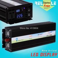 Direct Manufacturer,LED Display 1500Watt 12V/24V/48VDC to 100/110/120/220/230/240VAC Pure Sine Wave Power Inverter