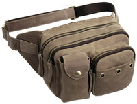 Antique Brown Leather Fanny Waist Hip Bum Packs Bags Messenger Waist Bag 3008