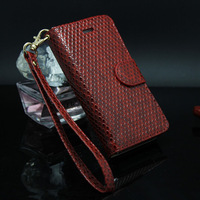 Retail Leather Cases Wallet Cover for iphone 4 4s Free Shipping