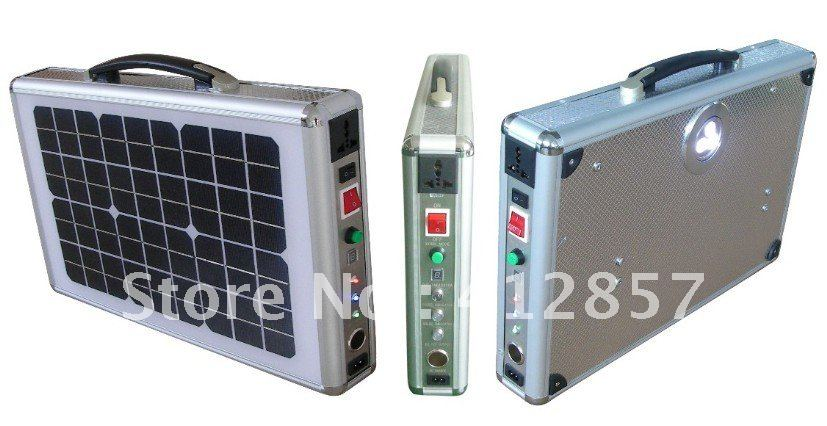 HOT SALE! portable pv briefcase solar generator 20W with LED light to power supply(China (Mainland))