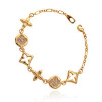 Hot Items European Brand Fancy Bracelets 18K Real Gold Plated Bracelets Austrian Rhinestone Jewelry For Women Wholesale H5012