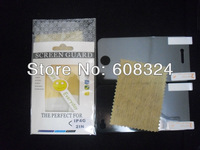 For iphone4/4s screen protector front and back with retail packaging or free cloth free shipping 600pcs /lot