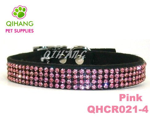 Free shipping,MOQ 30pcs bling rhinestone dog collars,fashion pet collars(China (Mainland))
