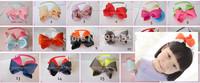 50pcs/lot 17 colors ,4 inch hair bows ,Free Shipping, ,Fashion gifts, Bow headbands Beautiful hairband,