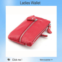 Geniune Leather purse clutch Wallet Zipper Fashion Hand Carry  Ladies key holder bags With Tag &Key Hook Free Shipping
