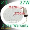 Free shipping + 1pcs/Lot 27W 110V/220V magnetic LED ceiling  panel light/led circular tube lights