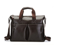 2013 Mens Bags Fashion Messenger Shoulder Bags For Men Tote Handle Designer Computer Laptop Handbag Bag Men PU Leather